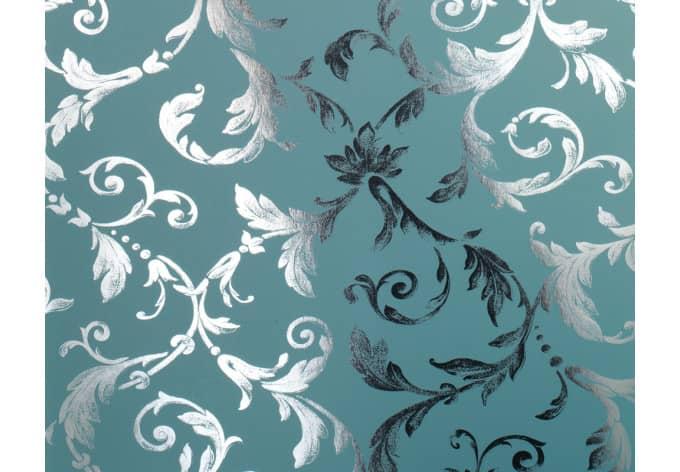 Architects paper vliestapete chroma blau metallic wall for Mustertapete blau