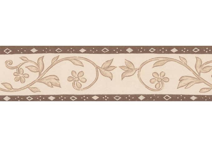 Bordo decorativo a s cr ation only borders 8 colore beige for Bordi decorativi per pareti