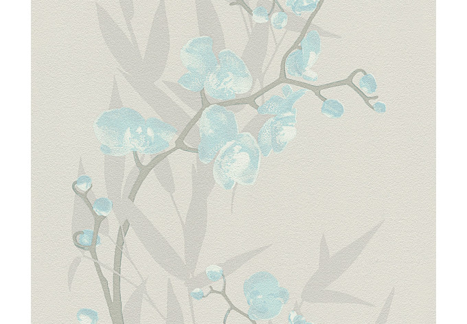 A s cr ation tapete bali beige blau wall for Mustertapete blau