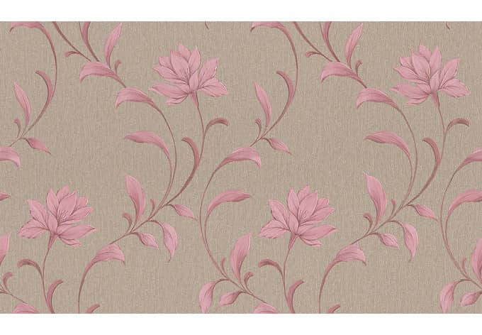 A s cr ation tapete luisa grau metallic rosa wall for Mustertapete grau