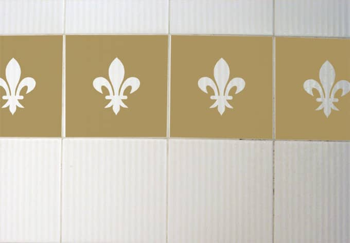 Decorative Wall Tile Stickers : Tile decor lily wall sticker art