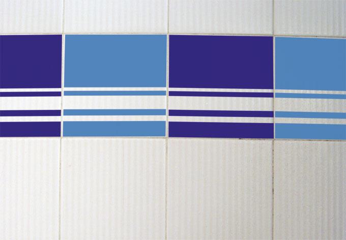 Muursticker Tegeldecor: Strepen - wall-art.nl