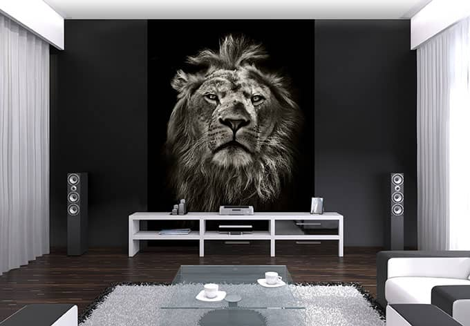 selbstklebende fototapete lion von k l wall art wall. Black Bedroom Furniture Sets. Home Design Ideas