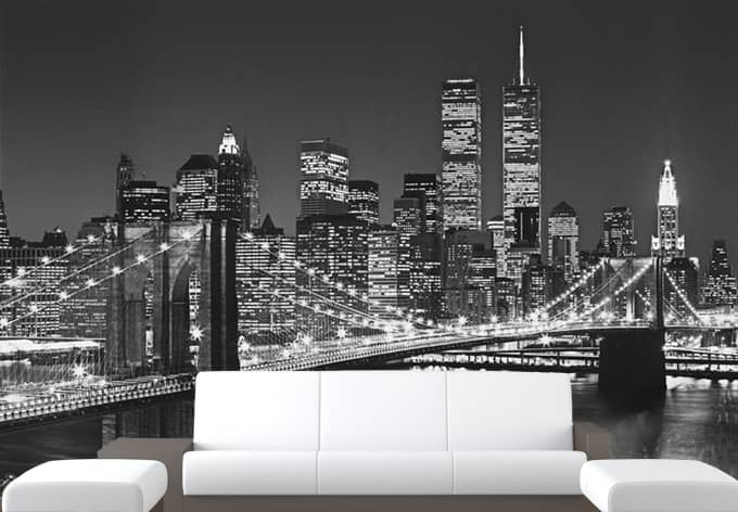 fototapete papiertapete brooklyn bridge die fantastische. Black Bedroom Furniture Sets. Home Design Ideas