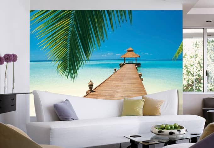 fototapete papiertapete strand fototapete paradise beach als deko wall. Black Bedroom Furniture Sets. Home Design Ideas