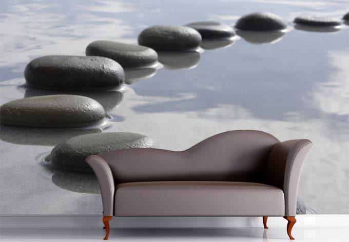 Fototapete steinpfad asiatische zen dekoration wall - Fototapete asia ...