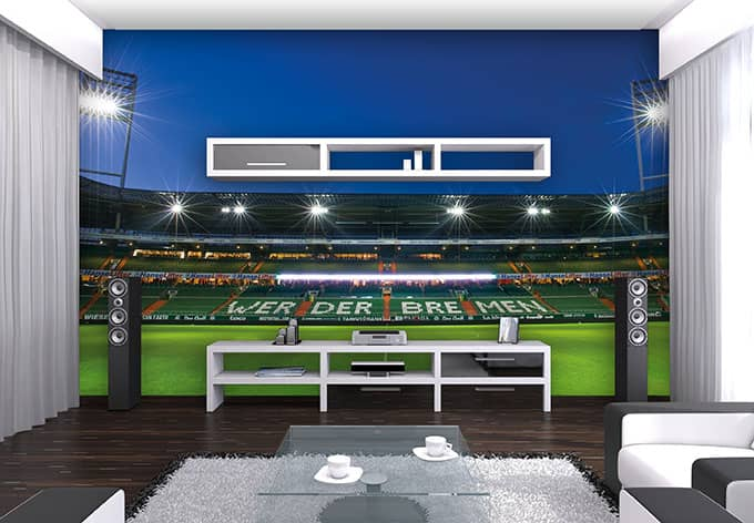 fototapete werder bremen weserstadion trib ne von k l wall. Black Bedroom Furniture Sets. Home Design Ideas