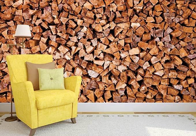 fototapete holz holzstapel f r einen nat rlichen look. Black Bedroom Furniture Sets. Home Design Ideas