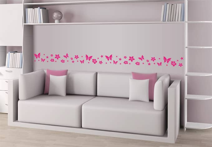 Adesivo murale bordo decorativo favoloso wall for Bordo adesivo decorativo