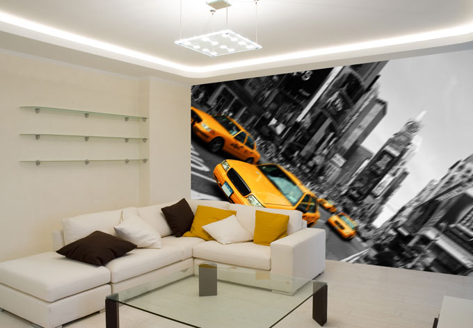 fototapete new york taxi von k l wall art wall. Black Bedroom Furniture Sets. Home Design Ideas