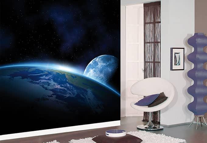 Fotobehang Planeet Aarde - wall-art.nl