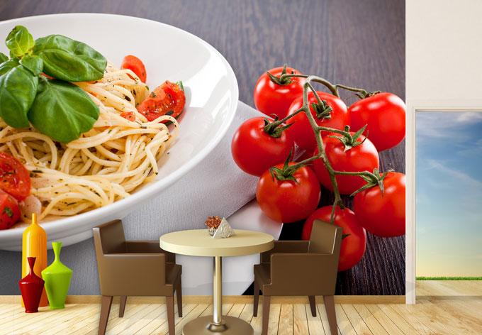 Italiaanse Keuken Teksten : Fotobehang Italiaanse Pasta – wall-art.nl