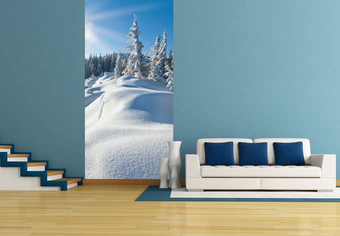 Fototapeten Winterlandschaft : Fototapete Snowdrifts on Winter Snow von K&L Wall Art wall-art.de