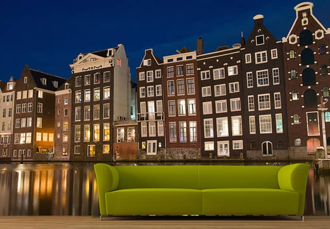 Fotobehang Amsterdam - wall-art.nl