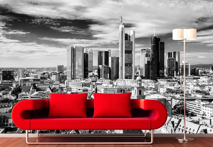 fototapete franfurter skyline von k l wall art wall. Black Bedroom Furniture Sets. Home Design Ideas