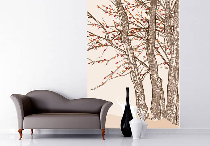 fototapete hirsch im wald gro formatige deko f r ihre wand von k l wall art wall. Black Bedroom Furniture Sets. Home Design Ideas