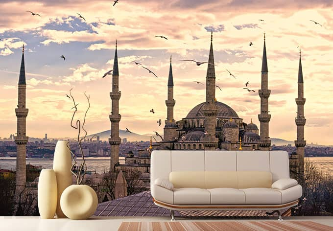 fototapete blaue moschee von k l wall art wall. Black Bedroom Furniture Sets. Home Design Ideas