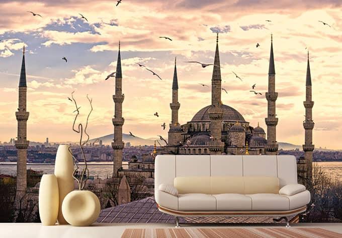fototapete blaue moschee von k l wall art wall. Black Bedroom Furniture Sets. Home Design Ideas