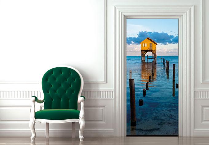 Adesivi per porte palafitta wall - Adesivi decorativi per porte ...