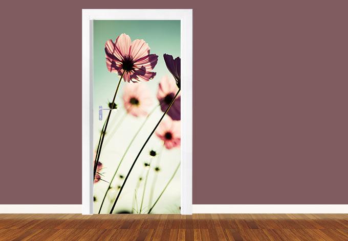 Adesivi per porte cosmee rosa wall - Pellicole adesive per porte ...