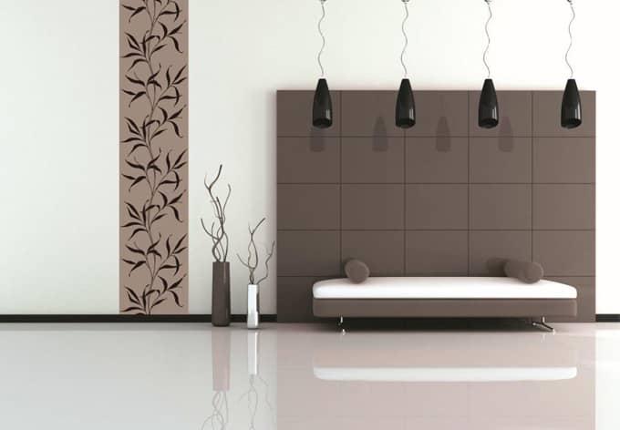 velourtapete ranke braun eine feine tapete mit velour. Black Bedroom Furniture Sets. Home Design Ideas