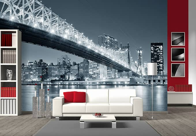 fototapete new york at night 3 metropole f r zuhause wall. Black Bedroom Furniture Sets. Home Design Ideas