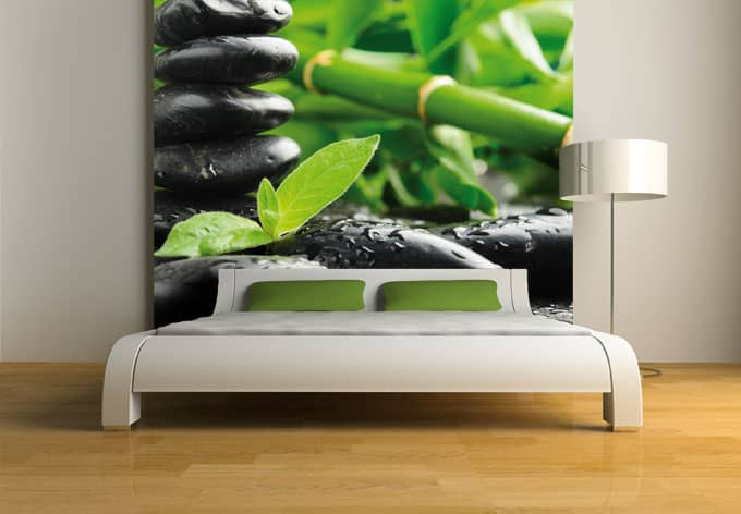 fototapete black zen stones asiatische wellness deko. Black Bedroom Furniture Sets. Home Design Ideas