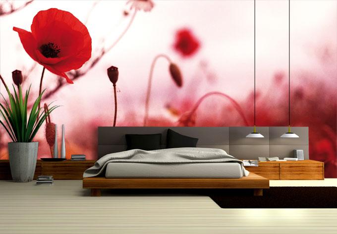 papier peint photo impressions de coquelicots wall. Black Bedroom Furniture Sets. Home Design Ideas