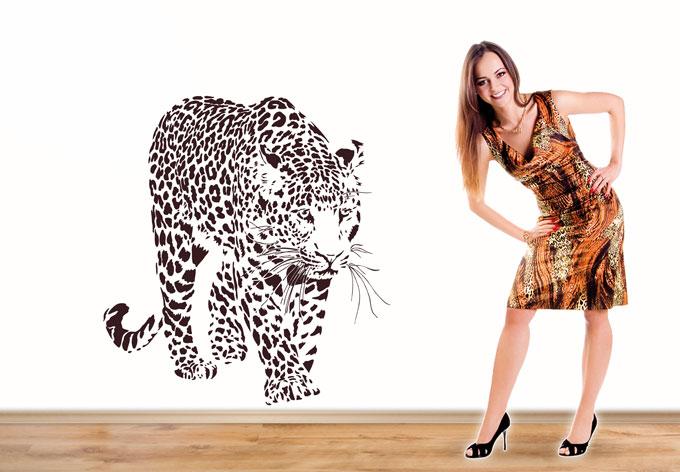 Wandtattoo Leopard