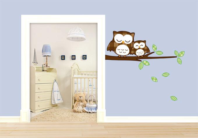 Gemutlich Machen : Kinderzimmer deko eulen ~ Ideen für die Innenarchitektur Ihres Hauses