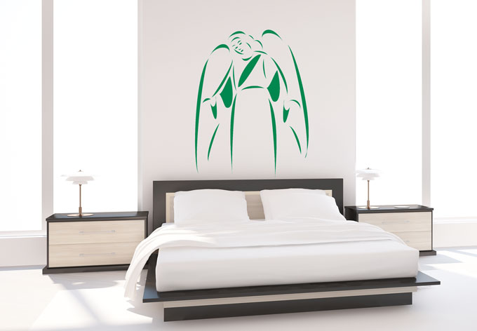 wandtattoo schutzengel deko mit engel wall. Black Bedroom Furniture Sets. Home Design Ideas