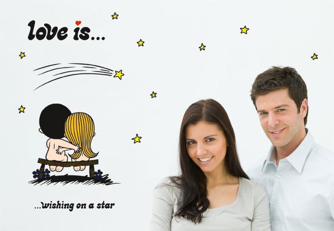 Wandtattoo liebe ist... sternenhimmel