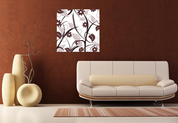 Wallprint blumengarten braun sch nes wallprint mit for Elegante wandbilder