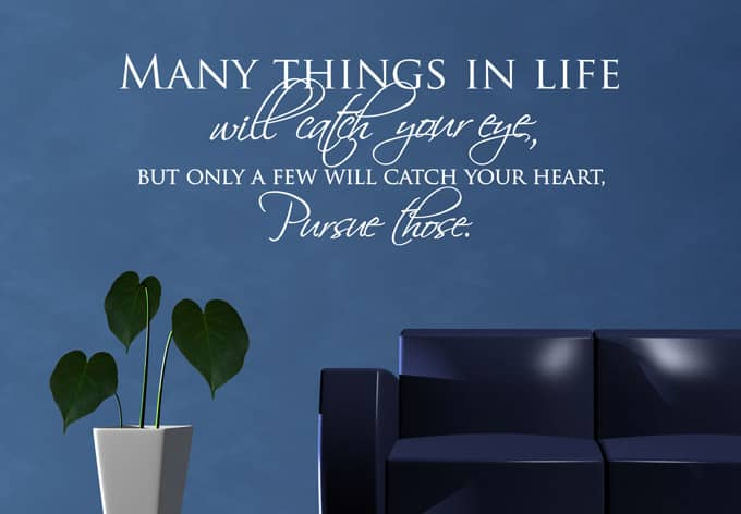 many things in life wall sticker wall. Black Bedroom Furniture Sets. Home Design Ideas