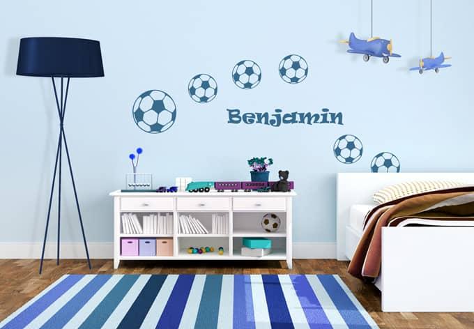 wandtattoo name fu b lle sch ne deko f r das. Black Bedroom Furniture Sets. Home Design Ideas