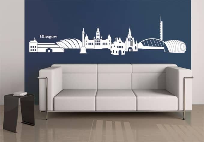 Glasgow skyline wall sticker wall art com