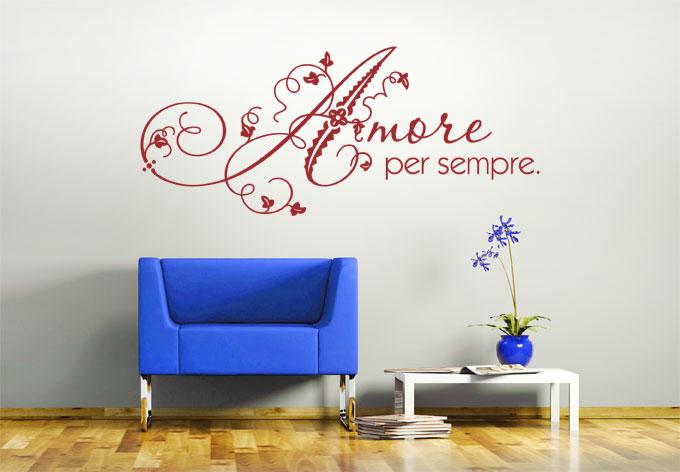 Amore per sempre - Wandtattoo italienische spruche ...