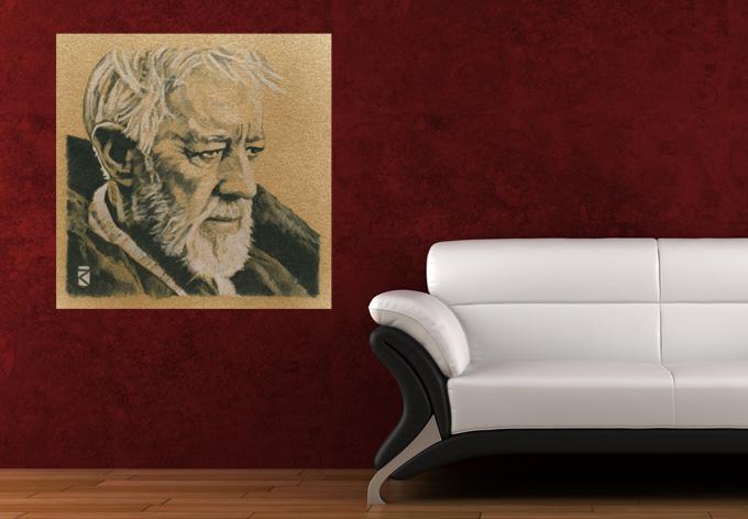 wandtattoo star wars clone wars obi wan kenobi color als. Black Bedroom Furniture Sets. Home Design Ideas