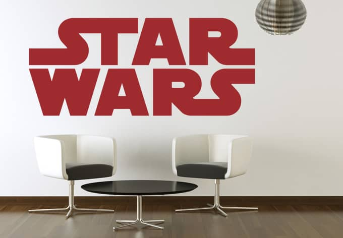 wandtattoo star wars logo wandaufkleber wall. Black Bedroom Furniture Sets. Home Design Ideas