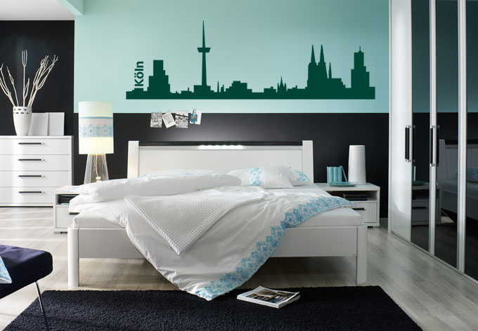 wandtattoo k ln skyline die domstadt als wandsticker. Black Bedroom Furniture Sets. Home Design Ideas