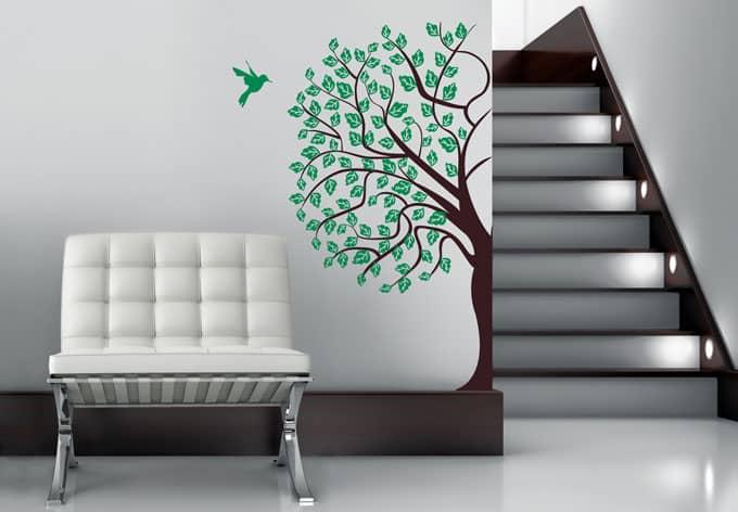 Wandtattoo Baum 2 (2-farbig)