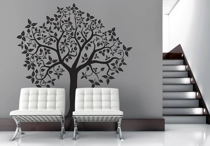 wandtattoo baum 2 bezaubernder baum als wandtattoo. Black Bedroom Furniture Sets. Home Design Ideas