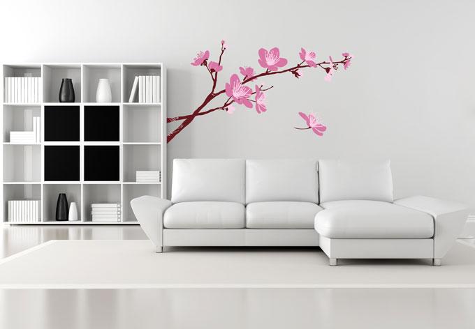 wandtattoo kirschbl ten 03 das romantische motiv bei k l. Black Bedroom Furniture Sets. Home Design Ideas