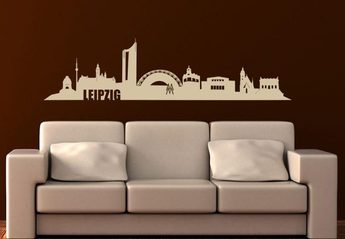 wandtattoo leipzig skyline die beliebte stadt in sachsen als deko wall. Black Bedroom Furniture Sets. Home Design Ideas