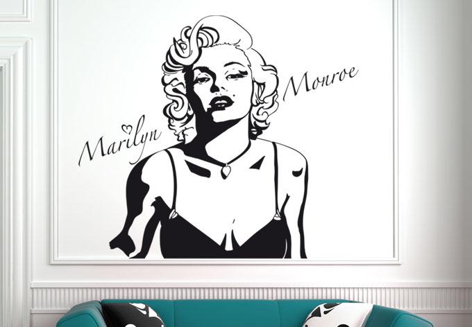 wandtattoo marilyn monroe wandtattoo von k l wall art. Black Bedroom Furniture Sets. Home Design Ideas