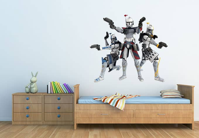 star wars clone troopers wandtattoo f r jungs wall. Black Bedroom Furniture Sets. Home Design Ideas