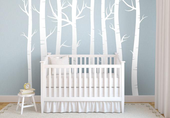 hochwertiges wandtattoo wald set von k l wall art stellen sie sich ihren eigenen wald zusammen. Black Bedroom Furniture Sets. Home Design Ideas