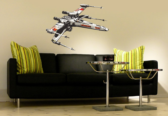 star wars the clone wars wandtattoo x wing raumschiff. Black Bedroom Furniture Sets. Home Design Ideas