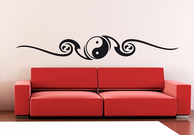 Muursticker Yin Yang 2 - wall-art.nl
