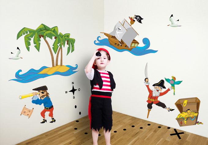 wandtattoo piraten set tolle piraten als set f r das. Black Bedroom Furniture Sets. Home Design Ideas